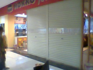 rolling door one sheet full perforated